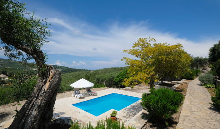 Swimming pool, Villa Bonas, Paxos