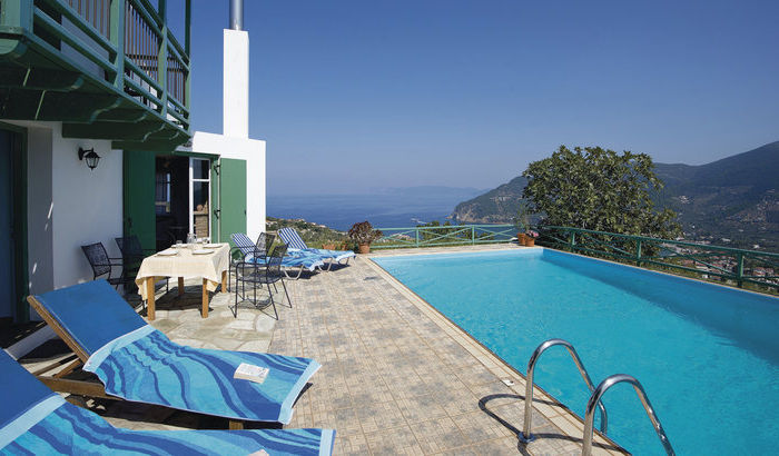 Outside Area, House of Dimitri, Skopelos