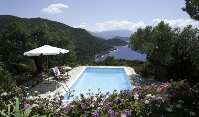 View, Pool, Sunset House, Kefalonia