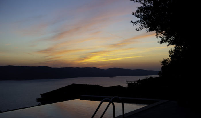 Sunset view from Villa Calypso, The Lefki Villas, Ithaca