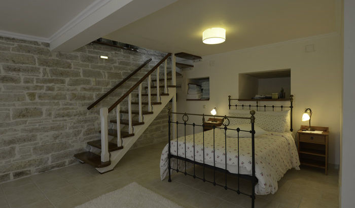 Lower ground floor master double bedroom, Villa Perseus, Paxos