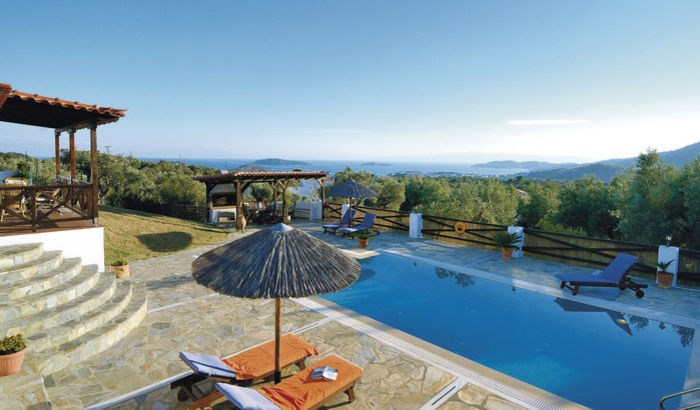 View from Villa Pefka, Skiathos