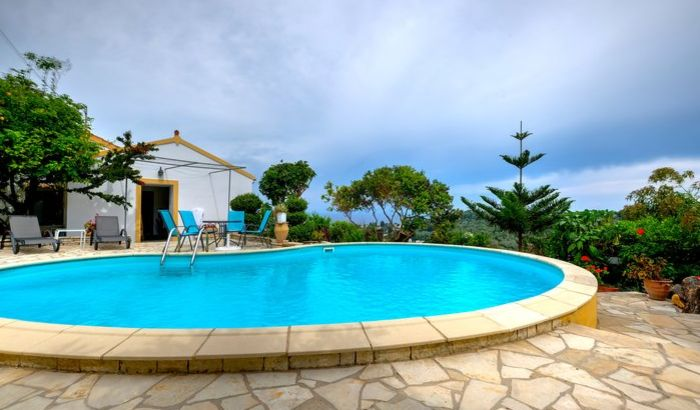 Swimming pool, Kapassa House, Paxos