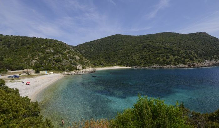 Beach view from Sunset House Annexe, Kefalonia