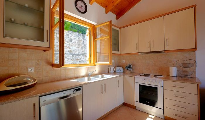 Kitchen, Levrecchio Beach House, Paxos