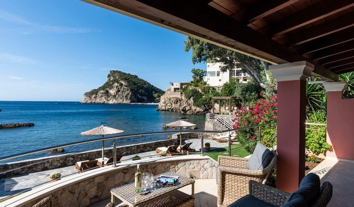 Terrace Sea view, Paleokastritsa Beach House, Corfu