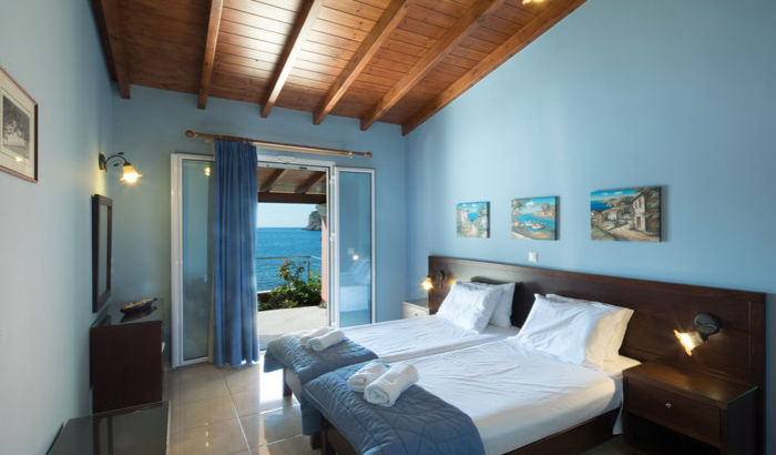 Twin Bedroom, Paleokastritsa Beach House, Corfu