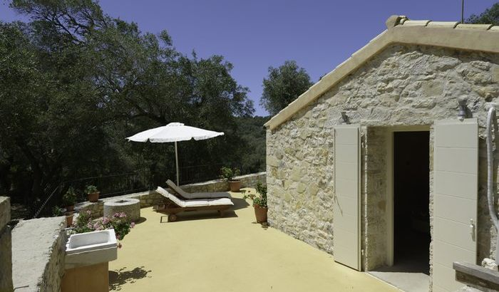 Outside Area, The Olive Press, Paxos