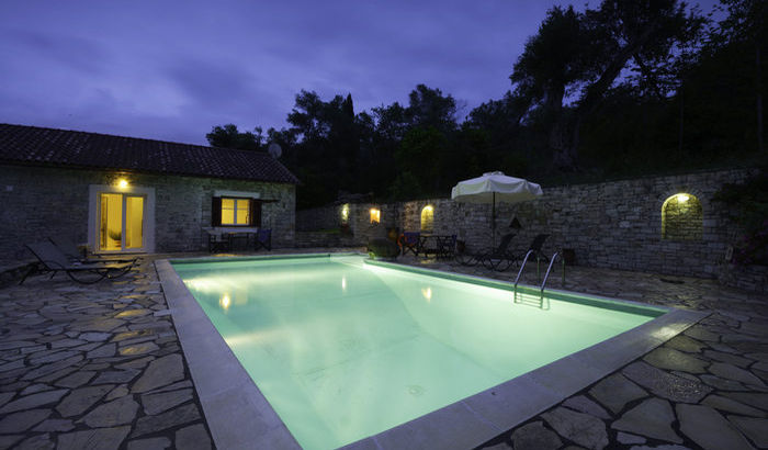 Outside Night, Villa Perseus, Paxos
