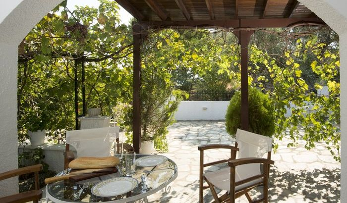 Outside Seating, Achladies Beach Cottage, Skiathos