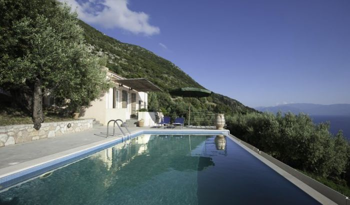 Villa Calypso swimming pool, The Lefki Villas, Ithaca