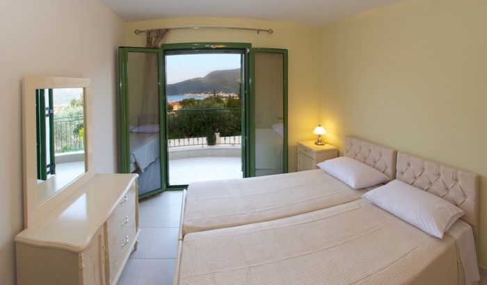 Twin bedroom, Villa Scorpios, Kefalonia