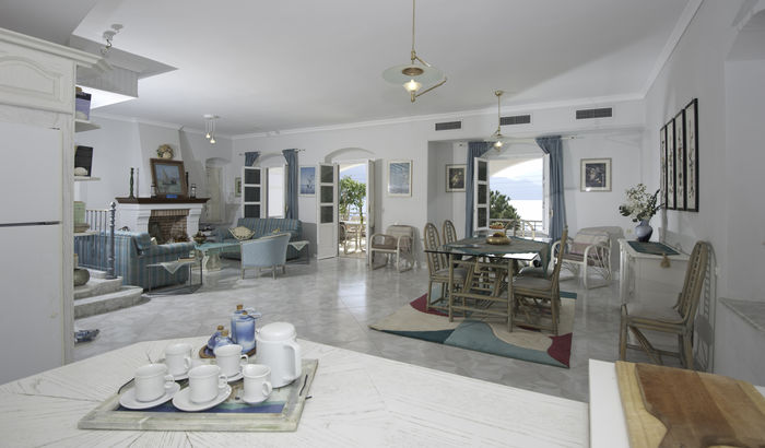 Living area and dining, Villa Nichola, Kefalonia