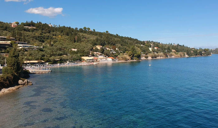 Beach from Villa Pascalia, Corfu