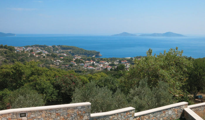 View from Villas Eos and Selene