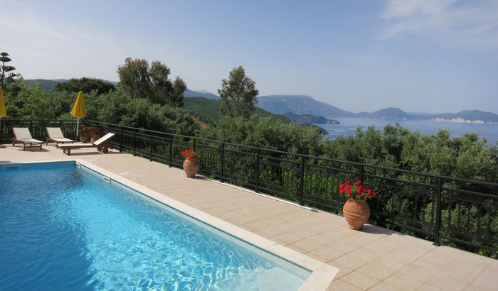 Swimming pool, Villa Zaramelos, Kefalonia